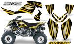 Outlaw 500 06 08 CreatorX Graphics Kit SpeedX Yellow Black 150x90 - Polaris Outlaw 450/500/525 2006-2008 Graphics