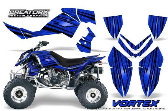 Outlaw 500 06 08 CreatorX Graphics Kit Vortex Black Blue 570x376 - Polaris Outlaw 450/500/525 2006-2008 Graphics