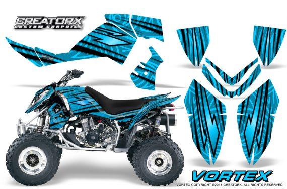 Outlaw 500 06 08 CreatorX Graphics Kit Vortex Black BlueIce 570x376 - Polaris Outlaw 450/500/525 2006-2008 Graphics
