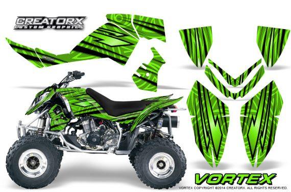 Outlaw 500 06 08 CreatorX Graphics Kit Vortex Black Green 570x376 - Polaris Outlaw 450/500/525 2006-2008 Graphics