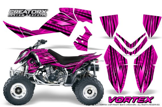 Outlaw 500 06 08 CreatorX Graphics Kit Vortex Black Pink 570x376 - Polaris Outlaw 450/500/525 2006-2008 Graphics