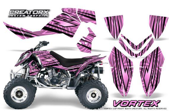 Outlaw 500 06 08 CreatorX Graphics Kit Vortex Black PinkLite 570x376 - Polaris Outlaw 450/500/525 2006-2008 Graphics
