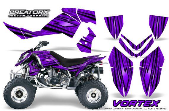 Outlaw 500 06 08 CreatorX Graphics Kit Vortex Black Purple 570x376 - Polaris Outlaw 450/500/525 2006-2008 Graphics