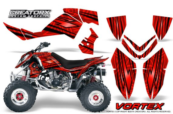Outlaw 500 06 08 CreatorX Graphics Kit Vortex Black Red 570x376 - Polaris Outlaw 450/500/525 2006-2008 Graphics