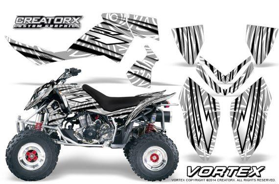 Outlaw 500 06 08 CreatorX Graphics Kit Vortex Black White 570x376 - Polaris Outlaw 450/500/525 2006-2008 Graphics
