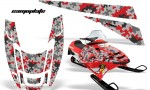 POLARIS EDGE AMR Graphics RED Camoplate 150x90 - Polaris Edge Graphics