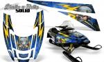 POLARIS EDGE XC CreatorX Graphics Kit Skulls n Bolts Solid Yellow Blue 150x90 - Polaris Edge Graphics