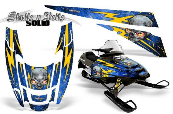 POLARIS EDGE XC CreatorX Graphics Kit Skulls n Bolts Solid Yellow Blue 570x376 - Polaris Edge Graphics