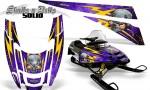POLARIS EDGE XC CreatorX Graphics Kit Skulls n Bolts Solid Yellow Purple 150x90 - Polaris Edge Graphics