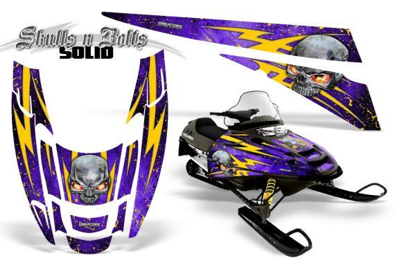 POLARIS EDGE XC CreatorX Graphics Kit Skulls n Bolts Solid Yellow Purple 570x376 - Polaris Edge Graphics