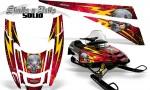 POLARIS EDGE XC CreatorX Graphics Kit Skulls n Bolts Solid Yellow Red 150x90 - Polaris Edge Graphics