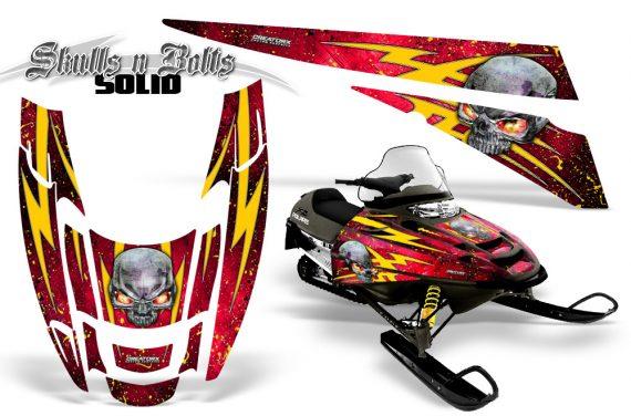 POLARIS EDGE XC CreatorX Graphics Kit Skulls n Bolts Solid Yellow Red 570x376 - Polaris Edge Graphics