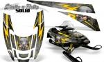 POLARIS EDGE XC CreatorX Graphics Kit Skulls n Bolts Solid Yellow Silver 150x90 - Polaris Edge Graphics