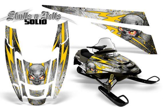 POLARIS EDGE XC CreatorX Graphics Kit Skulls n Bolts Solid Yellow White 570x376 - Polaris Edge Graphics