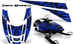 POLARIS EDGE XC CreatorX Graphics Kit Tribal Madness Blue 150x90 - Polaris Edge Graphics
