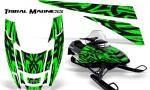 POLARIS EDGE XC CreatorX Graphics Kit Tribal Madness Green 150x90 - Polaris Edge Graphics