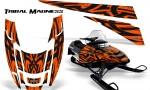 POLARIS EDGE XC CreatorX Graphics Kit Tribal Madness Orange 150x90 - Polaris Edge Graphics