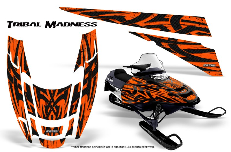 POLARIS-EDGE-XC-CreatorX-Graphics-Kit-Tribal-Madness-Orange