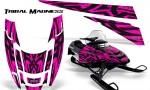 POLARIS EDGE XC CreatorX Graphics Kit Tribal Madness Pink 150x90 - Polaris Edge Graphics