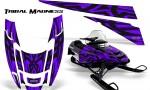 POLARIS EDGE XC CreatorX Graphics Kit Tribal Madness Purple 150x90 - Polaris Edge Graphics