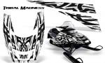 POLARIS EDGE XC CreatorX Graphics Kit Tribal Madness White 150x90 - Polaris Edge Graphics
