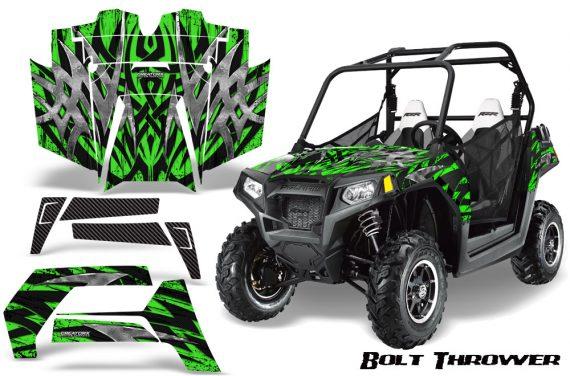 POLARIS RZR 800 2011 CreatorX Graphics Kit Bolt Thrower Green 570x376 - Polaris RZR 800 800s 2011-2014 Graphics