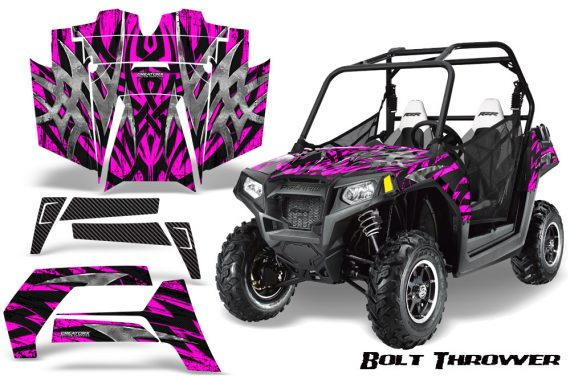 POLARIS RZR 800 2011 CreatorX Graphics Kit Bolt Thrower Pink 570x376 - Polaris RZR 800 800s 2011-2014 Graphics