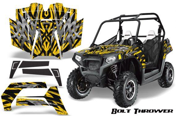 POLARIS RZR 800 2011 CreatorX Graphics Kit Bolt Thrower Yellow 570x376 - Polaris RZR 800 800s 2011-2014 Graphics