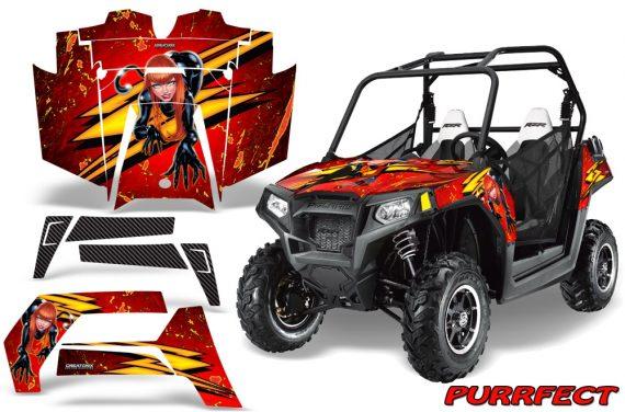 POLARIS RZR 800 2011 CreatorX Graphics Kit Purrfect Red 570x376 - Polaris RZR 800 800s 2011-2014 Graphics