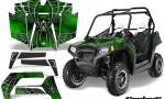 POLARIS RZR 800 2011 CreatorX Graphics Kit SpiderX Green 150x90 - Polaris RZR 800 800s 2011-2014 Graphics