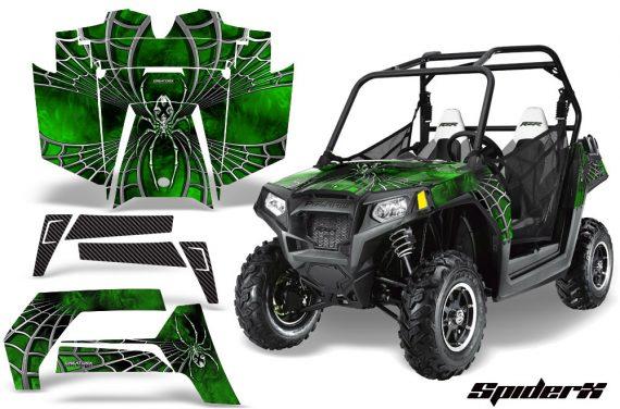 POLARIS RZR 800 2011 CreatorX Graphics Kit SpiderX Green 570x376 - Polaris RZR 800 800s 2011-2014 Graphics