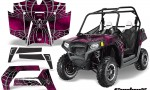 POLARIS RZR 800 2011 CreatorX Graphics Kit SpiderX Pink 150x90 - Polaris RZR 800 800s 2011-2014 Graphics
