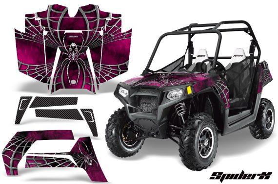 POLARIS RZR 800 2011 CreatorX Graphics Kit SpiderX Pink 570x376 - Polaris RZR 800 800s 2011-2014 Graphics