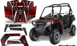 POLARIS RZR 800 2011 CreatorX Graphics Kit SpiderX Red 150x90 - Polaris RZR 800 800s 2011-2014 Graphics