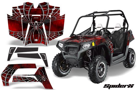 POLARIS RZR 800 2011 CreatorX Graphics Kit SpiderX Red 570x376 - Polaris RZR 800 800s 2011-2014 Graphics