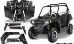 POLARIS RZR 800 2011 CreatorX Graphics Kit SpiderX Silver 150x90 - Polaris RZR 800 800s 2011-2014 Graphics