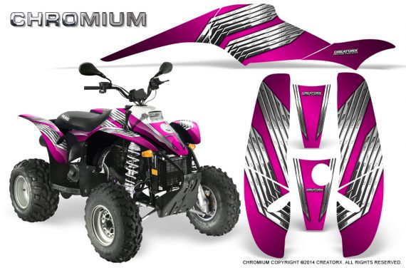 POLARIS Scrambler 500 Trailblazer 350 500 CreatorX Graphics Kit Chromium Pink 570x376 - Polaris Scrambler Trailblazer 1985-2009 Graphics