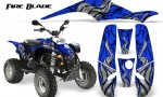 POLARIS Scrambler 500 Trailblazer 350 500 CreatorX Graphics Kit Fire Blade Black Blue 150x90 - Polaris Scrambler Trailblazer 1985-2009 Graphics