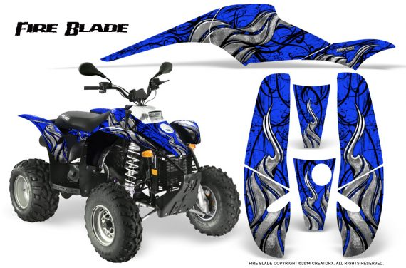 POLARIS Scrambler 500 Trailblazer 350 500 CreatorX Graphics Kit Fire Blade Black Blue 570x376 - Polaris Scrambler Trailblazer 1985-2009 Graphics