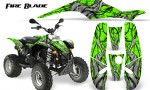 POLARIS Scrambler 500 Trailblazer 350 500 CreatorX Graphics Kit Fire Blade Black Green 150x90 - Polaris Scrambler Trailblazer 1985-2009 Graphics