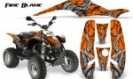POLARIS Scrambler 500 Trailblazer 350 500 CreatorX Graphics Kit Fire Blade Black Orange 150x90 - Polaris Scrambler Trailblazer 1985-2009 Graphics