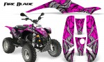 POLARIS Scrambler 500 Trailblazer 350 500 CreatorX Graphics Kit Fire Blade Black Pink 150x90 - Polaris Scrambler Trailblazer 1985-2009 Graphics