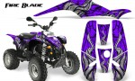 POLARIS Scrambler 500 Trailblazer 350 500 CreatorX Graphics Kit Fire Blade Black Purple 150x90 - Polaris Scrambler Trailblazer 1985-2009 Graphics