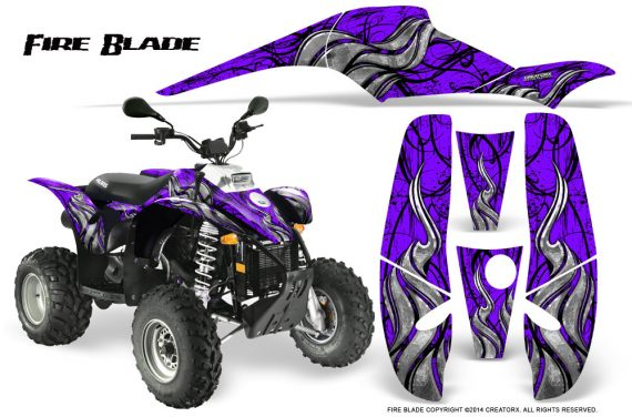 POLARIS Scrambler 500 Trailblazer 350 500 CreatorX Graphics Kit Fire Blade Black Purple 570x376 - Polaris Scrambler Trailblazer 1985-2009 Graphics