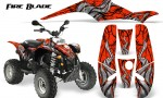 POLARIS Scrambler 500 Trailblazer 350 500 CreatorX Graphics Kit Fire Blade Black Red 150x90 - Polaris Scrambler Trailblazer 1985-2009 Graphics