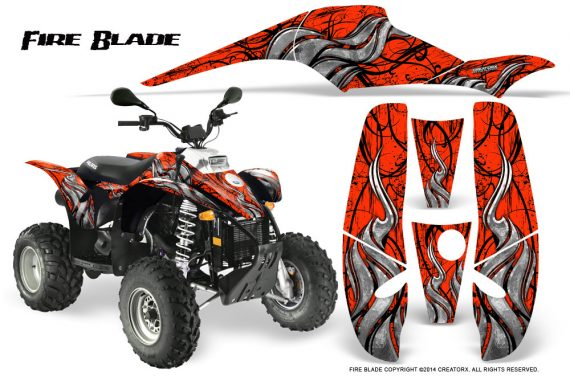 POLARIS Scrambler 500 Trailblazer 350 500 CreatorX Graphics Kit Fire Blade Black Red 570x376 - Polaris Scrambler Trailblazer 1985-2009 Graphics
