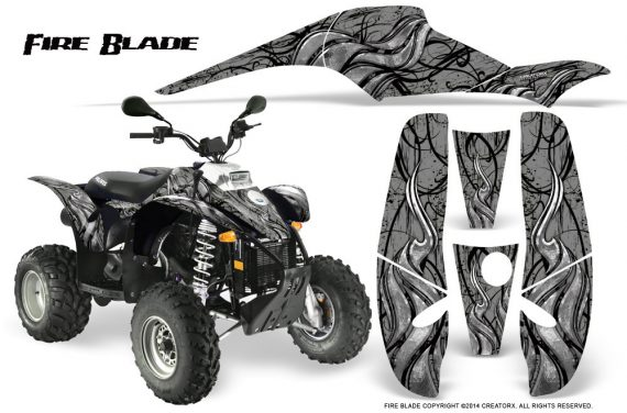 POLARIS Scrambler 500 Trailblazer 350 500 CreatorX Graphics Kit Fire Blade Black Silver 570x376 - Polaris Scrambler Trailblazer 1985-2009 Graphics