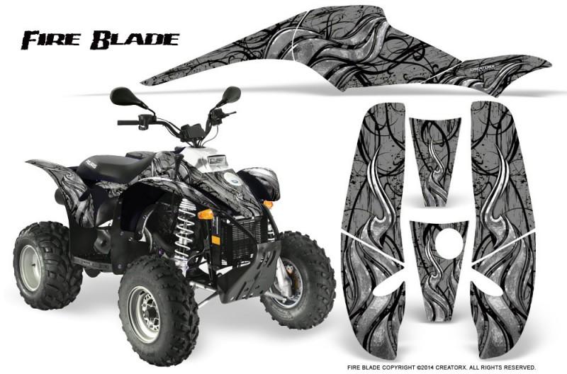 POLARIS-Scrambler-500-Trailblazer-350-500-CreatorX-Graphics-Kit-Fire-Blade-Black-Silver