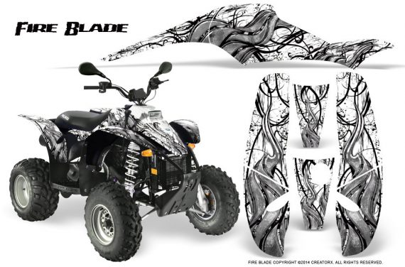POLARIS Scrambler 500 Trailblazer 350 500 CreatorX Graphics Kit Fire Blade Black White 570x376 - Polaris Scrambler Trailblazer 1985-2009 Graphics