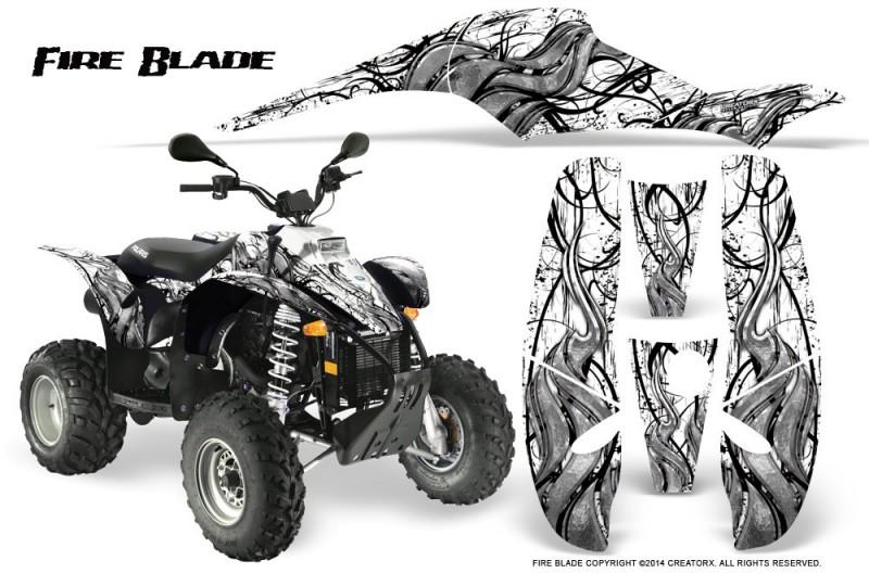 POLARIS-Scrambler-500-Trailblazer-350-500-CreatorX-Graphics-Kit-Fire-Blade-Black-White